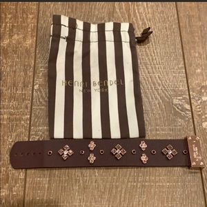 Henri Bendel burgundy leather bracelet